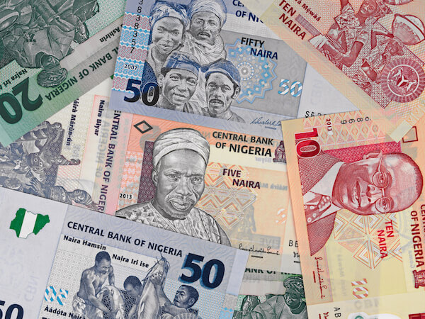 Various banknotes - Naira is the Nigerian currency