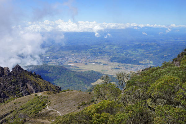 View over Panama from Volcan Baru