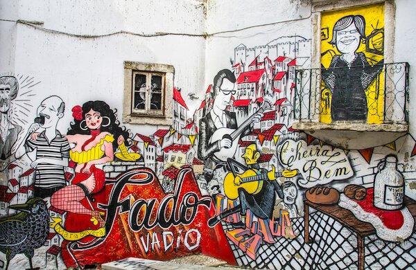 Portugal Fado Street Art - image by Phil Darby/shutterstock.com