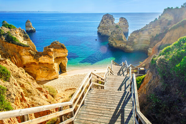 Praia do Camilo Beach near Lagos/Algarve in Portugal