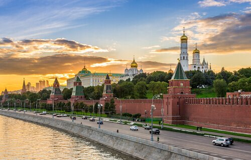 Russia Moscow Kremlin wall