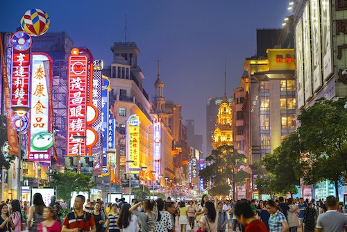 Asian metropole in China