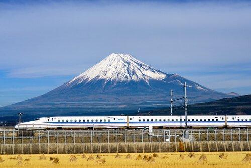 Shinkansen Train and Mount Fuji - image by Sean Pavone/shutterstock.com