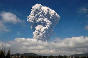 Indonesia's Mount Sinabung with huge ash cloud - image by Reuters