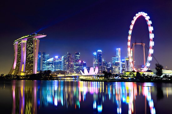 Singapore Marina Bay by Night
