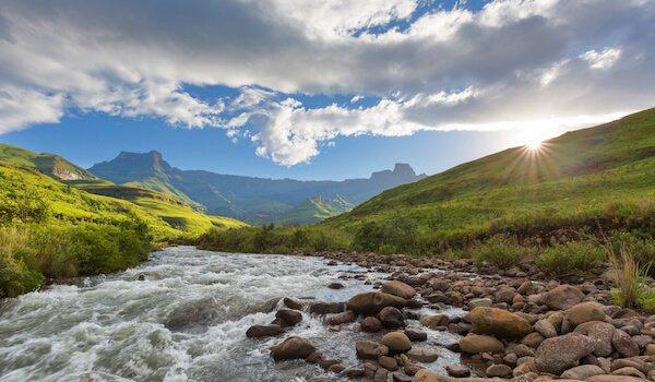 Tugela River in the Drakensberg in South Africa