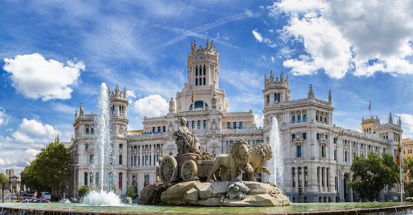 Cibeles Fountain in Madrid is one of Spain's landmarks