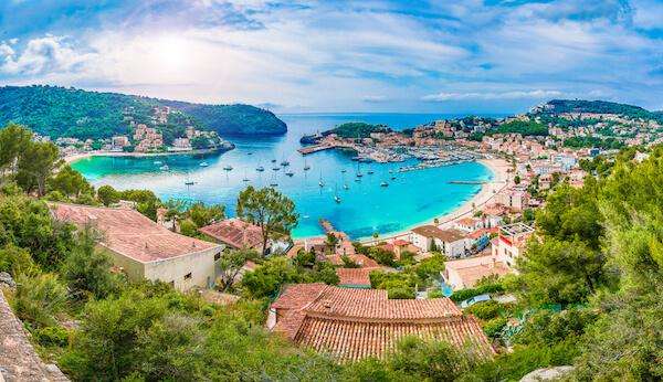 Port de Soller in Mallorca