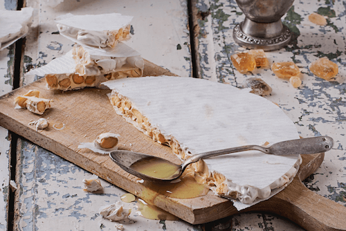 Spanish Turron- nougat is typical for Christmas time in Spain