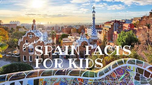 Kids Map Of Spain.Spain Facts For Kids Spain For Kids Geography Travel Food