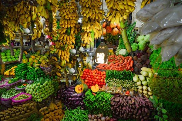 Fresh fruits at the market in Sri Lanka