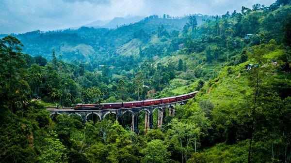 Nine Arches Bridge in Sri Lanka