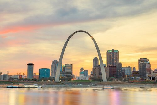 St Louis in twilight - image Shutterstock