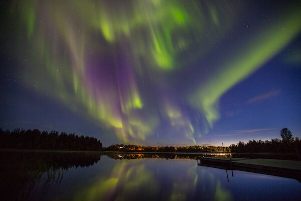 Northern lights in Kiruna in Sweden - image by Alberto Gonzalez Gimenez