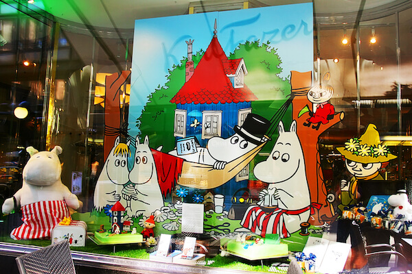 Moomin characters by Tove Jansson on display in Helsinki - image by iOso/shutterstock