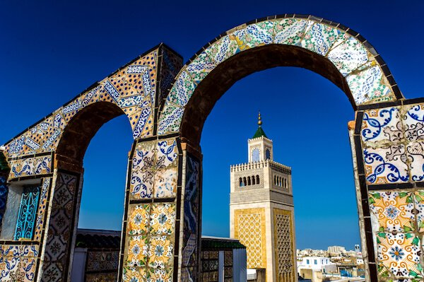 Minaret in Tunis - image by BTW Images