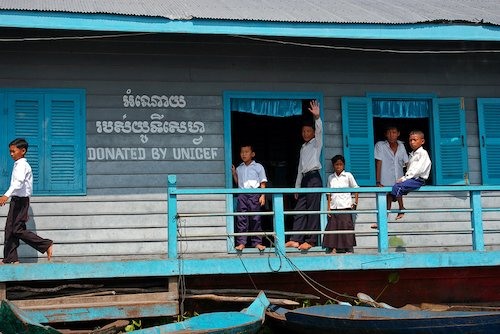 School built by Unicef, image by Komar at Shutterstock.com