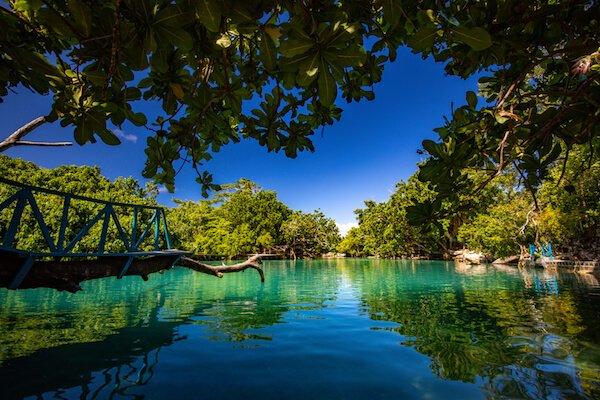Vanuatu blue lagoon