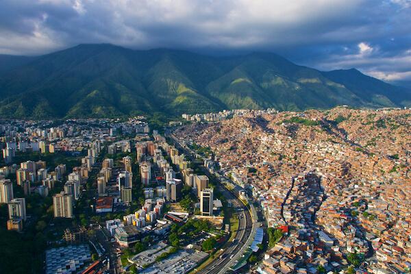 Aerial of Caracas - Venezuela's capital city