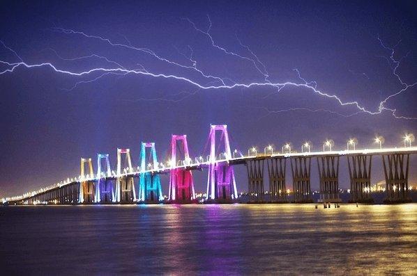 Thunderstorm over Lake Maracaibo