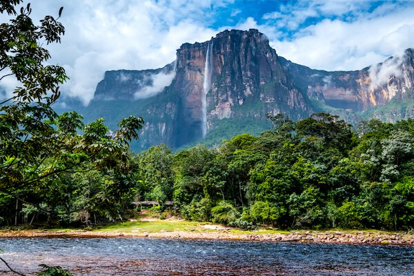 Salto Angel/ Angel Falls, the highest waterfalls in the world.