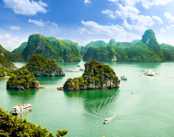 Halong Bay in Vietnam Asia