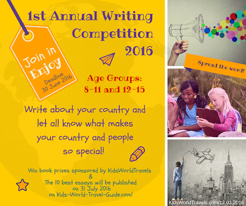 Writing Competition for Kids | KidsWorldTravelGuide
